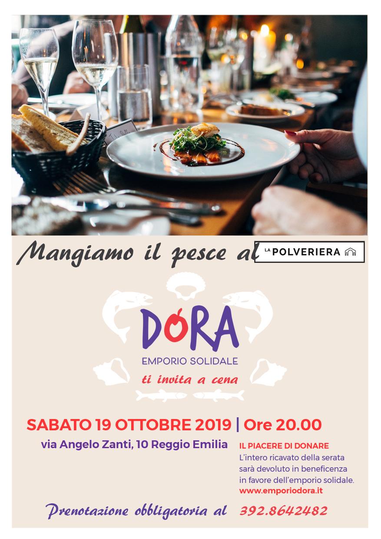 Cena di pesce in Polveriera per Dora